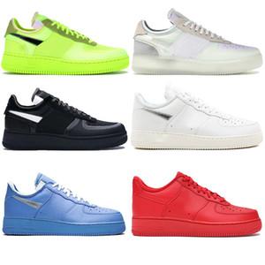 2020 Fuerzas zapatos corrientes del mens zapatillas de deporte voltios universitarios negro azul blanco deporte casuales 1 1s monopatín bajo de las mujeres Chaussure US5.5-11 zapato