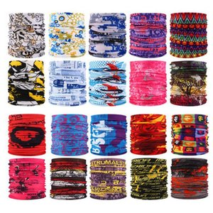 Outdoor Sports Seamless Máscara Facial Bandana Multifunctional Headwear Headband Neckwarmer Magia lenço da garganta fole Máscaras Pesca cara DWF858