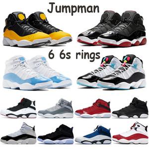 Jumpman 6 6s Ringe unc Taxi Mensbasketballtrainer südstrand gezüchtet Konsonanz kühlen grau Turnhalle Glatteis Team königlichen Männer Schuhe rot