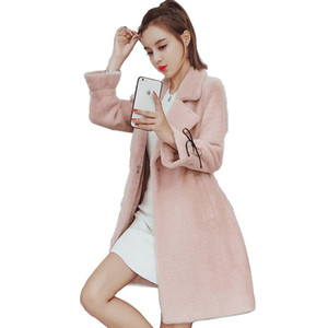 2020 New Autumn Winter Women Single Breasted Warm Thicken Long Woolen Coats Female Casual Wool Blend Oversize Jacket Abrigos J37