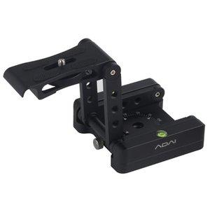 Tilt Photographie Pliable pour SLR Z Type de curseur rail Quick Release Tête trépied studio Support caméra réglable en alliage d'aluminium