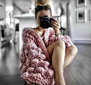 Noir Crochet Cardigan en maille à manches longues femmes manteau d'hiver en cachemire dames Cardigan femmes hiver 2019 Pull filles sauteurs Tops
