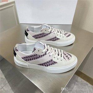 Les hommes et les femmes Chaussures montantes casual lettre d'impression chaussures plates occasionnels, à lacets des chaussures de course avec boîte d'origine