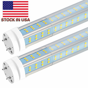 25pcs-T8 LED Light Tubes, 4FT 60W LED bombillas de luz, en forma de V lateral doble 4 Filas, bombillas de repuesto T10 T12 LED para 4 Foot fluorescente Fixture