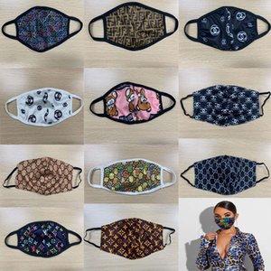Máscaras Moda Marca lavável respirável ultravioleta-prova Máscara Facial Trendy Imprimir reutilizável Windproof Anti-pó Ciclismo Outdoor Atacado