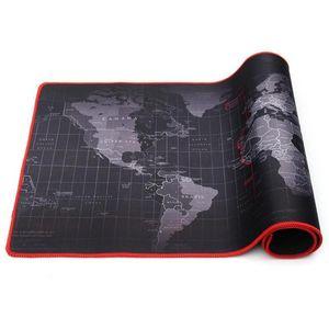 جديد خريطة العالم إضافية كبيرة وسادة الماوس حصيرة المطاط الطبيعي سطح المكتب الألعاب مكتب ماوس الفأر المورد