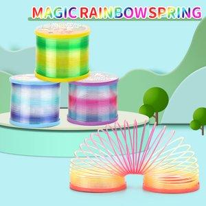Kid Toy insegnamento precoce 40PCS Magic Rainbow primavera Pull giocattolo colorato luce scintillante Arcobaleno Primavera per Boy Baby Girl