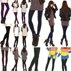 EDSX0 Femmes Pantyhose et Mode d'hiver Mode Neuf Point Leggings en molleton Pantyhose Pantalon pour l'automne