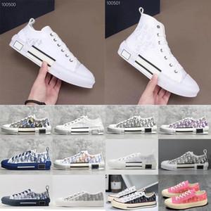 Dior 19FW B23 Наклонная 2020 High Low Top Sneakers марочные платформы Obliques Технические кожаные ботинки мужские ботинки женщин Новая мода Тренеры 3 fBb4 #