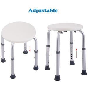 Ajustável liga de alumínio Idosos Banheira Duche Cadeira Redonda Stool Branco de banho Stool para Pessoas com Mobilidade Reduzida