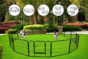 US STOCK, Outdoor Folding Metal Exercise Pen Pet Playpen,16-Panel Heavy Duty Large Dog Fence Cat Puppy Pet Exercise Playpen W24101524
