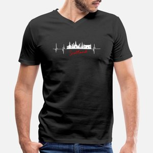 Escocia hombres de la camiseta Personalizar 100% algodón tamaño euro S-3XL nuevo camiseta anti-arrugas de verano Basic del estilo de las letras