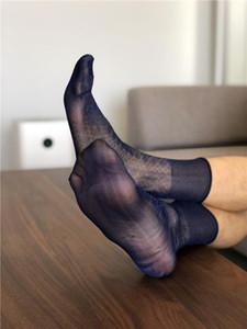 Schlauch-Socken männlich Kleid-Socken-Geschenke für Männer Sheer Exotische Formal Wear Anzug Männer Sexy Homosexuell Transparente Kleid Geschäft TNT