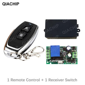QIACHIP 433MHz AC 220V Relay 1CH Remote Control Receiver RF Relay Switch Module Wireless 433mhz For Light Lamp Controller Switch
