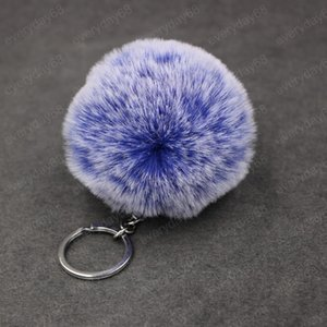 Fashion Fur Ball Keychain Pom Pom Fluffy Ball Key Chain Lovely Key Ring Car Phone Wallet Handbag Bag Jewelry Accessories