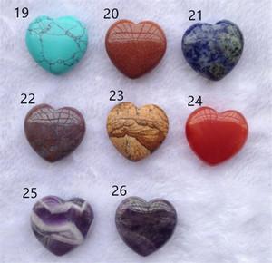 Sıcak Çim Patio Reiki Mineraller Kalp Şekli Kristal Doğal Kuvars Chakra Healing Taş Taş kolye DIY Hediye Ev Dekorasyonu El Yapımı Takı