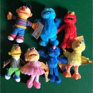 Plaza Sésamo Aimo ELMO originales solo por mayor Sesame Street muñeca de la felpa muñeca de juguete padre-hijo trompeta 001