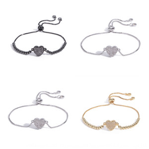 amantes Shambhala Popular AMOR FFJPQ Popular AMOR amantes em forma de coração pulseira DIY forma de coração Shambhala DIY pulseira