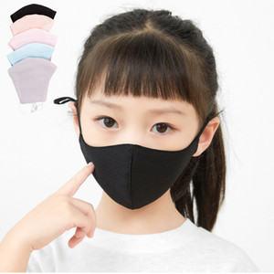 Fashion Kids Party Masks Lovely Children Breathable Reusable Washable Ice Silk Face Masks Anti-dust PM2.5 Children Outdoor Mouth Cover Mask