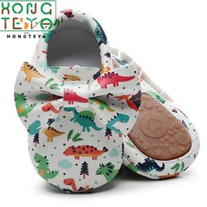 Sert kauçuk Sole Sigara kayma ile 2020 Yeni Varış Bebek Yenidoğan Bebek Erkekler Kızlar Hayvan Yatağı Ayakkabı Bebek Karikatür bebek makosenler