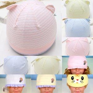 sottile 0-3 mesi cap baby baby maglia cappello lavorato a maglia cappello dei pneumatici cotone neonato estivo