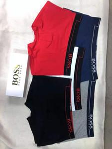 gûccì Men boxers cotton 4 pcs lot Men's Underwear Shorts solid Boxer for Men Breathable Comfortable Summer Size L XL XXL