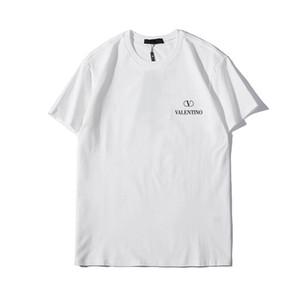 2015 бренд моды Мужские футболки Мужчины с коротким рукавом рубашки вскользь тенниску Tee Tops Mens с короткими рукавамиvltn печать Z8Valentino