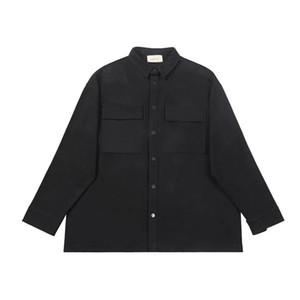 Meilleur Oversize Vintage Cargo T-shirt à manches longues Fermeture par bouton pression Streetwear