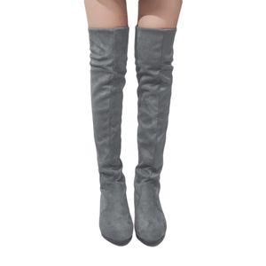 Haut Bottes Gaoke Chaussures Femme Mode femmes de plus Cuissardes Automne Hiver Bota Feminina Cuisse