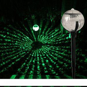 مصابيح المشهد الشمسية بقيادة العشب الكرة على شكل الصمام في الهواء الطلق الإضاءة حديقة الخفيفة للطاقة الشمسية الديكور الملونة البلاستيك الخفيف والفولاذ المقاوم للصدأ