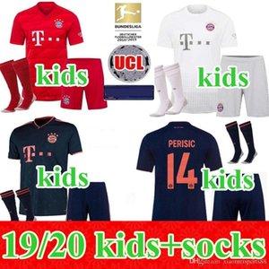 19 20 Bayern Calcio Maglia casa lontano Bayern Monaco bambini 3rd equipaggiarla al 2019 2020 VIDAL LEWANDOWSKI MULLER Robben bambino ragazzi kit maglia uniforme