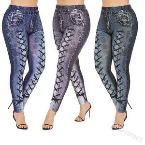Fashion Women Jeans Skinny Jeans with Strips Print Women Cool Streetwear 2020 New Arrival Long Pants 3 Colors Size S-2XL