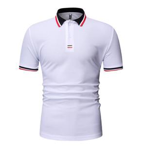 Mens camiseta del diseñador gira el collar abajo camisas de polo de las camisetas de la manga del cortocircuito del verano ocasional de la manera Hommes Polos