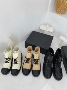 2020 Sonbahar / Kış Yeni Stil Bağlama Ayak Bileği Kadın Çizmeler Zincir Kalın Sünger Kek Kalın Alt Su Geçirmez Platformu Martin Çizmeler