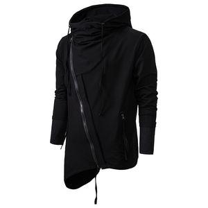 رجل بلوزات لإدارة الربيع الخريف عارضة القتلة العقيدة Sweatercoat الظلام هوديس عارضة قطري زيبر سترة صوفية