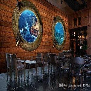 Море Океан Сокровища Совет Treasure Обои для рабочего стола 3d 3d Масштабный Mural КТВ Hotel Restaurant Theme Wallpaper