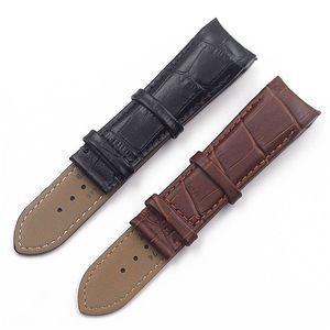 Guarda Accessori cinturino in pelle Per Tissot fredda galleria disegno Cintura T035617a T035439a 22 23 24 millimetri uomini di Brown della fascia nera T190702 Guarda