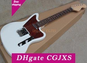 Fabrika Toptan Beyaz Elektro Gitar ile Bid Headstock, 21 Perde, Gülağacı Klavye, Özelleştirilmiş olarak Reques Olabilir