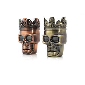Tobacco Grinder 75mm 3 Layers Grinders Herbal Grinders Tobacco Grinder Skull Grinder 2 collors hot Cny2249