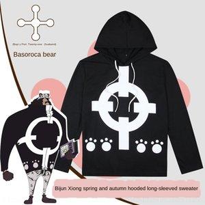 uPm9N WTYZo Цельный с длинными рукавами футболки одежда тиран одежда свитер Медведь аниме свитер с капюшоном Футболка с длинными рукавами одежды подходит ф
