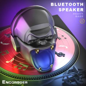 Haut-parleur portable sans fil Bluetooth Haut-parleurs Skull Crystal Clear Stereo Son Rich basse haut-parleur tête crâne