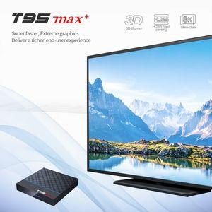 T95 Max Plus TV Box Android 9.0 с поддержкой Amlogic S905X3 4GB 23 64GB 2.4G 5G Wi-Fi Bluetooth Smart TV Box