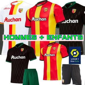 2021 RC Lens deplasmanda futbol formaları Gradit Fortes Cahuzac Perez 2020 2021 RC Lens maillot de foot Camisa de futebol Erkekler futbol Gömlek