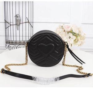 Tasarımcı-Marmont Mini yuvarlak omuz çantası Yeni Tasarımcı çanta hakiki deri moda bayan çanta boyutu 18 * 18 * 5 cm modeli