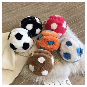 Futebol Shaped Plush Pele Messenger Bag Ombro Bolsa Tote Mini Corpo Cruz 2019 Bolsa Para Mulheres Meninas melhor presente para as crianças TGsE #