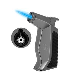 PIPITA Windproof Cigar Lighter Torch Butane Lighter, Adjustable Single Flame Cigar Lighter Refillable Gas, Pocket Size Cigarette