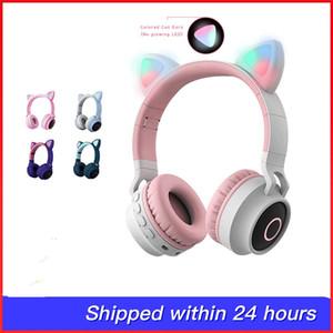 orecchie di gatto stile carino senza fili della fascia di Bluetooth gioco cuffie per Grils regalo colorato BT 5.0 auricolare bellezza cuffia Bluetooth