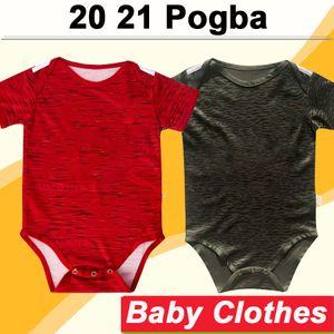 20 21 Pogba RASHFORD maglie calcio MATA casa rosso nero assente 3 vestiti del bambino di calcio shirt manica Nuovo MARZIALI Lingard MATIC Breve