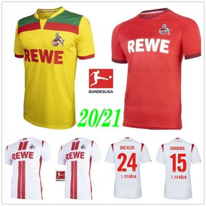2020 2021 Maillots de football FC Koln 24 DREXLER 14 HECTOR 27 MODESTE 33 Bornauw 15 20 21 CORDOBA personnalisé Domicile Extérieur Troisième COLOGNE Football Shirt
