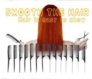 المهنية تصفيف الشعر عالية الجودة مباشرة أسود أمشاط الشعر برو صالون تصفيف الشعر الاستاتيكيه من ألياف الكربون مشط للحلاقة قص الشعر